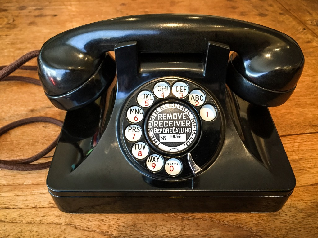 Rotary phone and asterisk